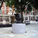 A statue in Mayfair